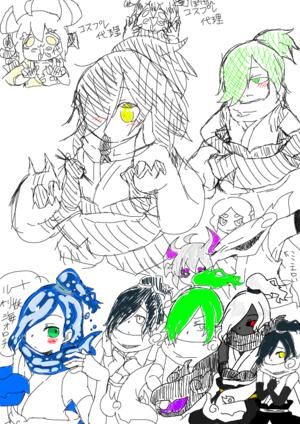 オロチと影オロチの日常描こうぜ キャンバス詳細 Kakooyo